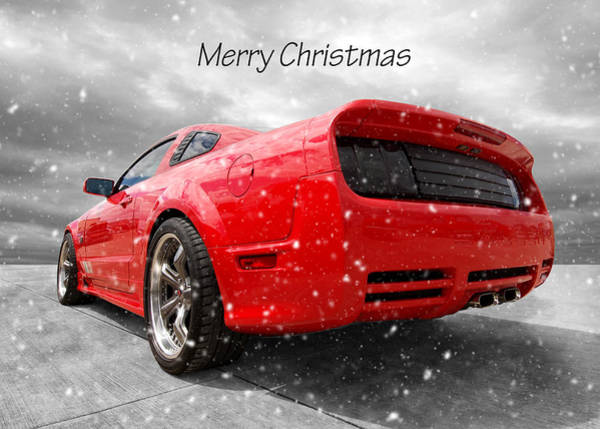Wall Art - Photograph - Merry Christmas Saleen Mustang by Gill Billington