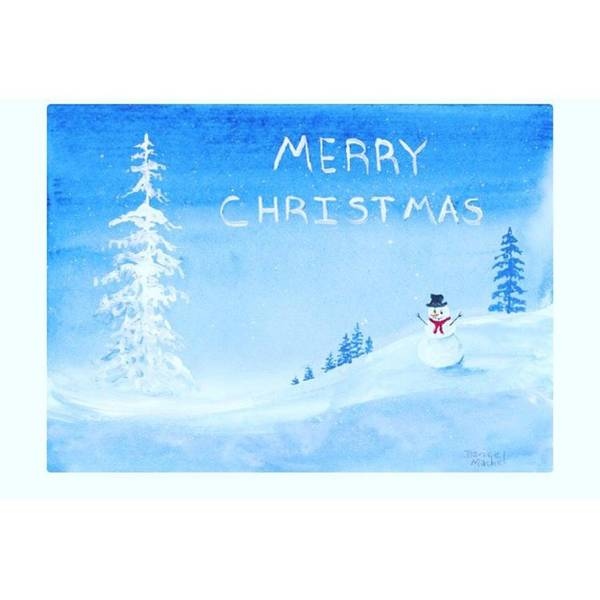 Holiday Wall Art - Photograph - Merry #christmas Snowman Available On by Darice Machel McGuire