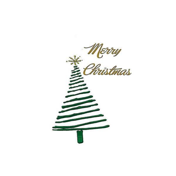 Digital Art - Merry Christmas Tree by Judy Hall-Folde