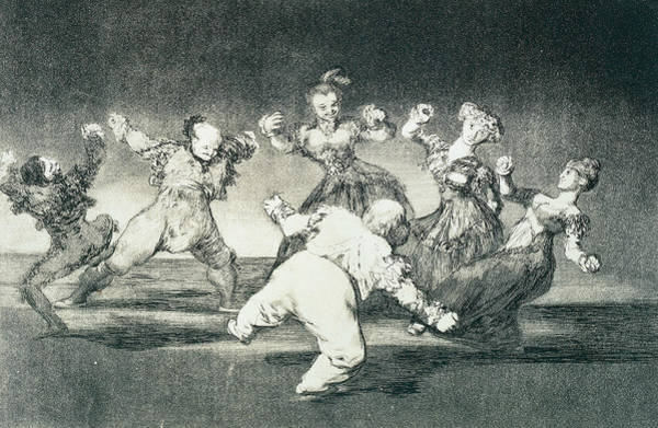 Relief - Merry Folly by Francisco Goya