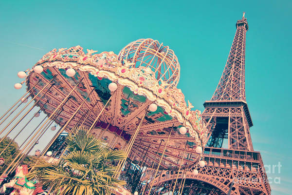 Carousels Photograph - Merry Go Paris by Delphimages Photo Creations