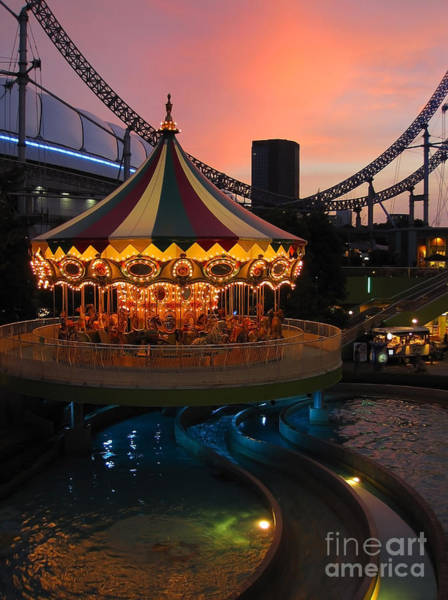 Photograph - Merry-go-round At Sunset by Eena Bo