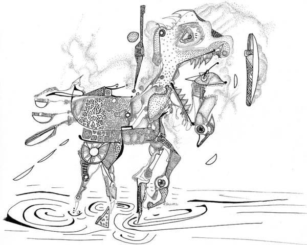 Drawing - Merry-go-round Horse by Regina Valluzzi