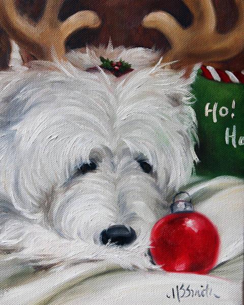 Wall Art - Painting - Merry Ho Ho by Mary Sparrow