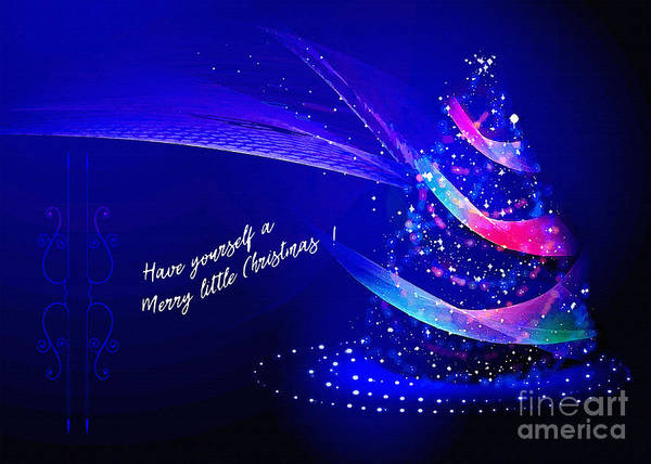 Digital Art - Merry Little Christmas Card 2017 by Kathryn Strick