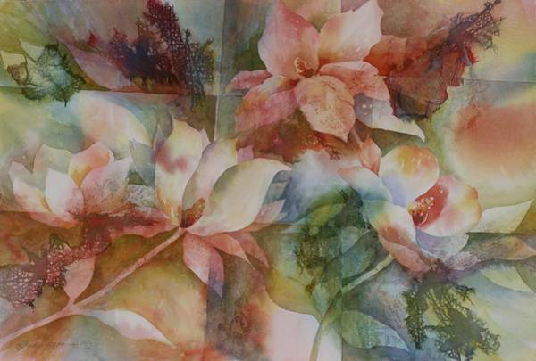 Painting - Merry Magnolias by Tara Moorman
