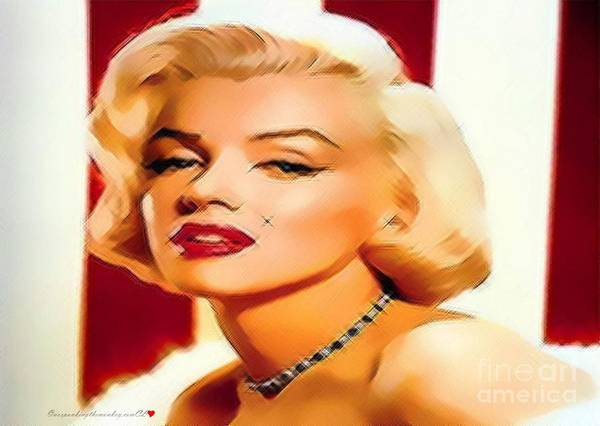 Painting - Merry Marilyn Monroe by Catherine Lott