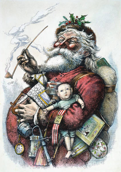 Engraving Photograph - Merry Old Santa Claus by Granger