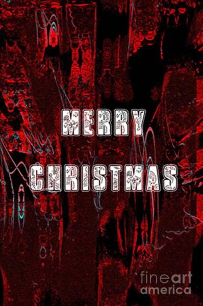 Digital Art - Merry Xmas Card by Donna Bentley