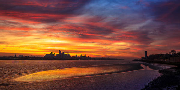 Photograph - Mersey Sunrise by Peter OReilly