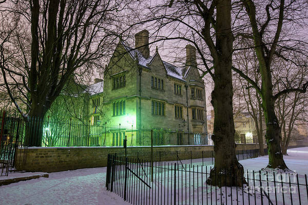 Wall Art - Photograph - Merton College Oxford In Winter by Tim Gainey