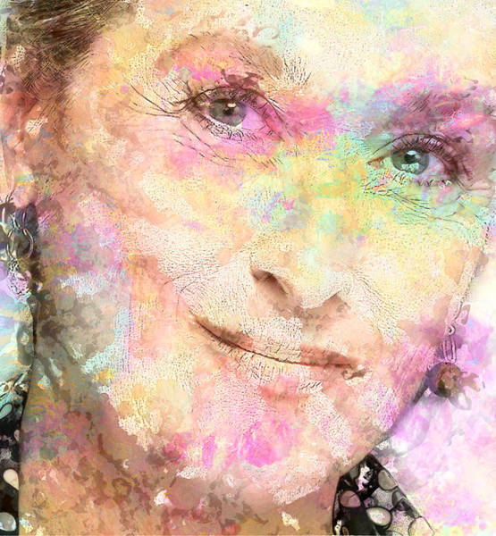 Wall Art - Digital Art - Meryl Streep by Elena Kosvincheva