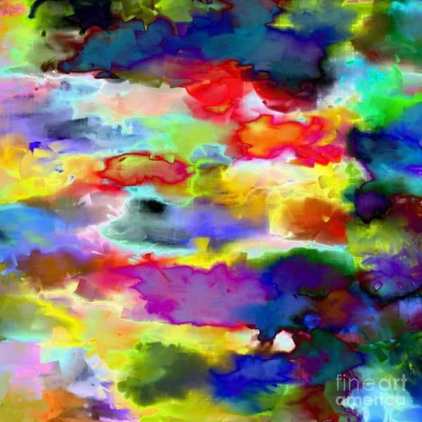 Abstrait Digital Art - Mes Petits Nuages My Little Clouds by Carole Thivierge