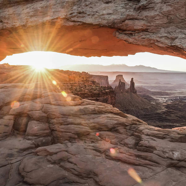 Photograph - Mesa Arch Magic - Square Format by Gregory Ballos