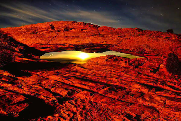 Photograph - Mesa Arch Moonshine by Greg Norrell