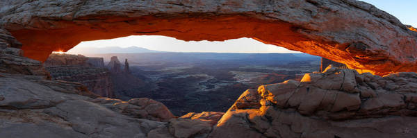 Photograph - Mesa Arch Panorama by Aaron Spong