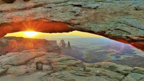 Digital Art - Mesa Arch Sunrise by Barkley Simpson