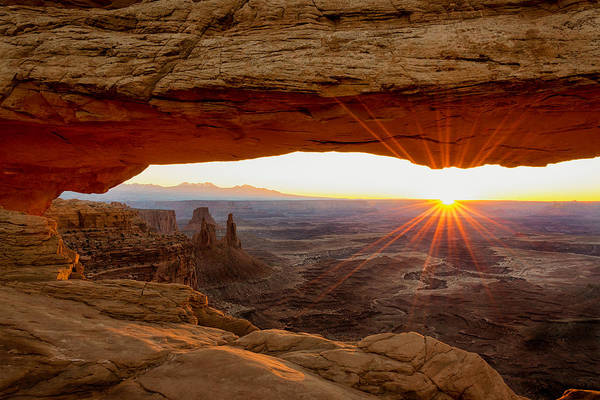 Beautiful Park Photograph - Mesa Arch Sunrise - Canyonlands National Park - Moab Utah by Brian Harig