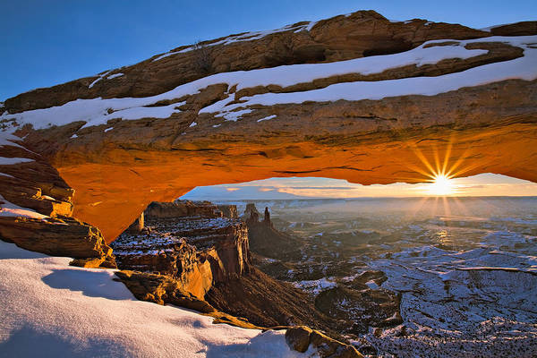 Wall Art - Photograph - Mesa Arch Sunrise by Guy Schmickle