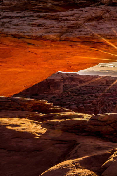 Photograph - Mesa Arch Triptych Panel 1/3 by Ryan Smith