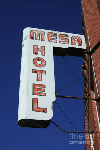 Photograph - Mesa Hotel by Tony Baca