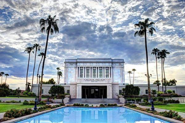 Missionary Photograph - Mesa Temple Morning by Jaren Martineau