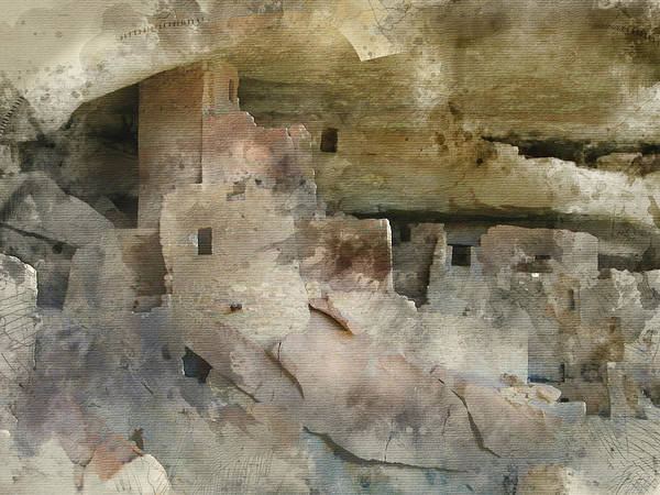 Digital Art - Mesa Verde Water Color by Gary Baird