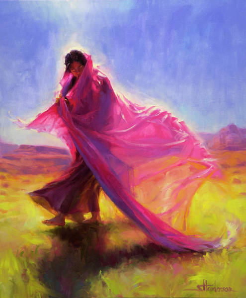 Blue Hair Wall Art - Painting - Mesa Walk by Steve Henderson