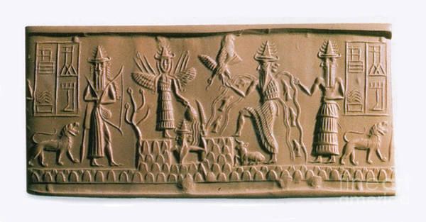 Mythological Photograph - Mesopotamian Gods by Photo Researchers