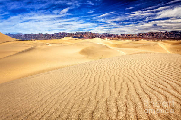 Photograph - Mesquite Flat Sand Dunes In Death Valley by Bryan Mullennix
