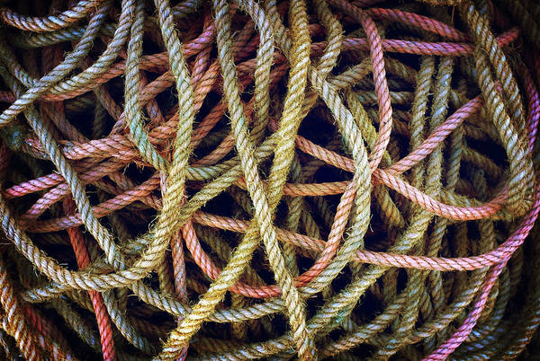 Fishing Line Photograph - Mess Of Ropes by Carlos Caetano