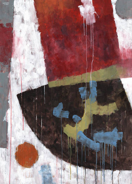 Gestural Painting - Message From Martha by Douglas Simonson