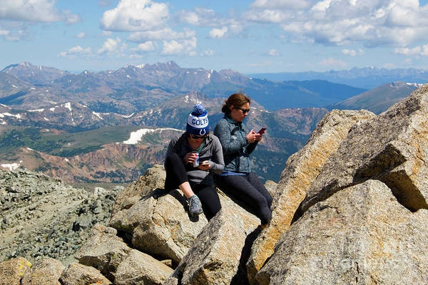 Photograph - Messaging The Mount Massive Summit by Steve Krull