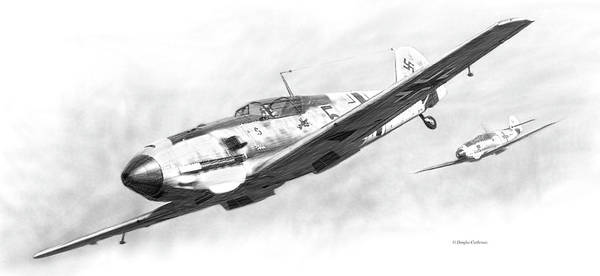 Digital Art - Messerschmitt Bf-109e by Douglas Castleman
