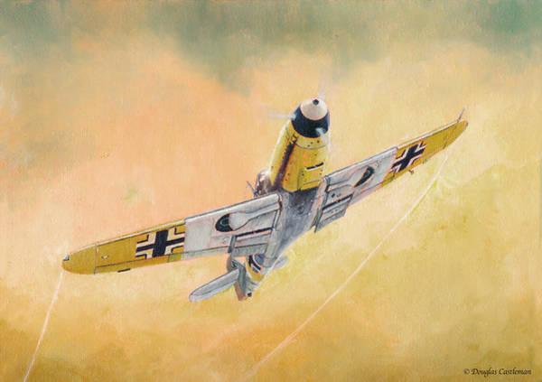 Painting - Messerschmitt Bf-109f by Douglas Castleman