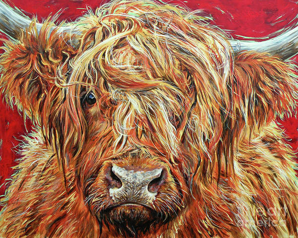 Cows Painting - Messy Nessie by Leigh Banks