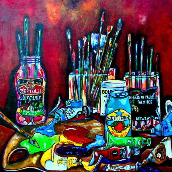 Painting - Messy Paints II by Patti Schermerhorn