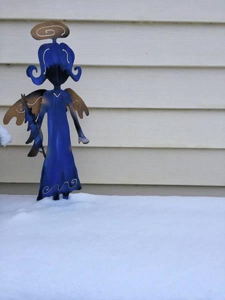 Photograph - Metal Snow Angel by David Matthews