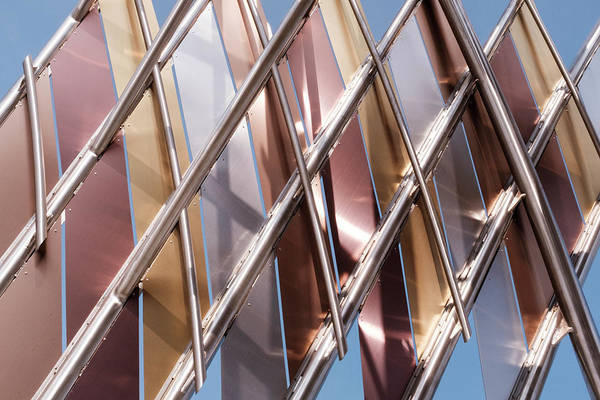 Metal Abstract With Lines And Angles In Lansing Michigan Art Print