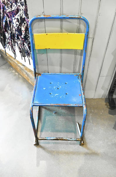 Class Photograph - Metal Chair by Tom Gowanlock
