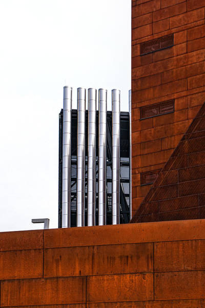 Photograph - Metal Contrasts Wu Campus Vienna by Menega Sabidussi