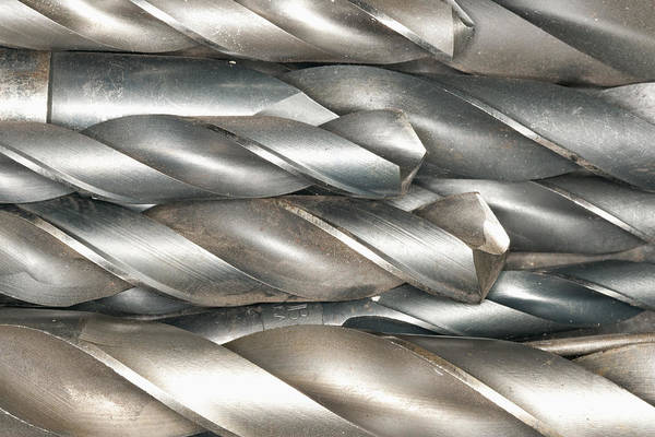 Drill Bits Wall Art - Photograph - Metal Drill Bits by Shannon Fagan