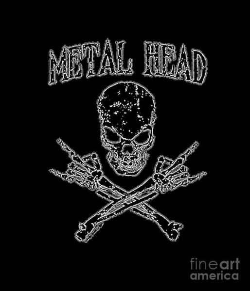 Painting - Metal Head by Jessie Art