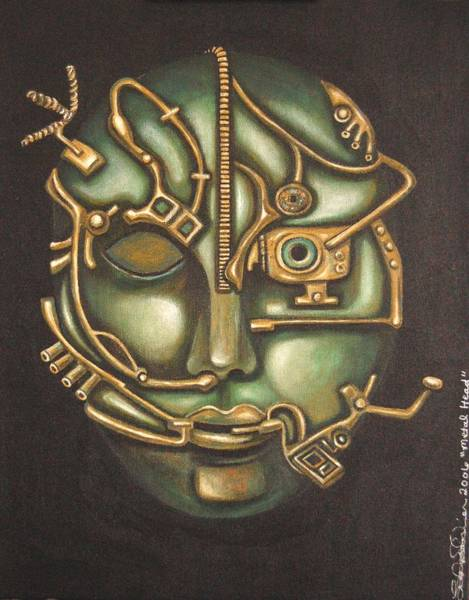 Painting - Metal Head by Leah Saulnier The Painting Maniac
