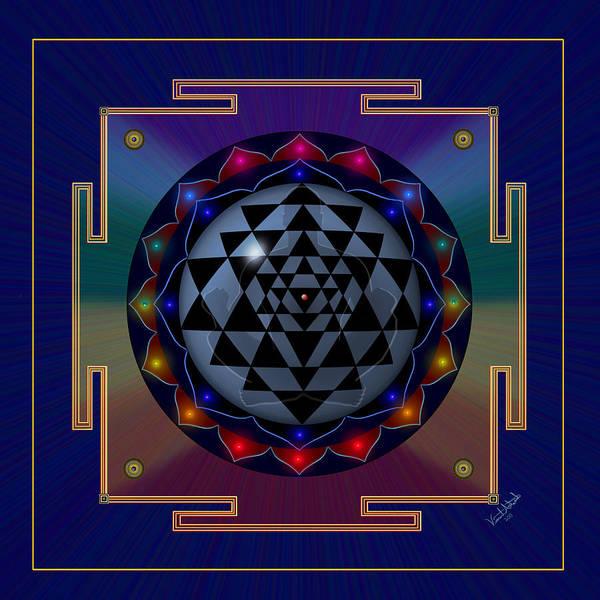 Digital Art - Metal Mandala by Vincent Autenrieb