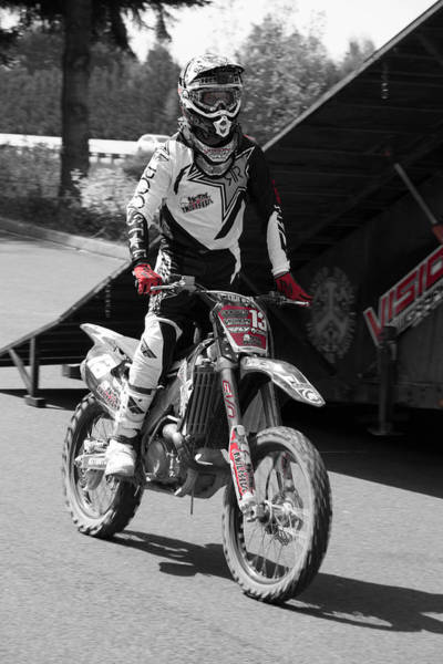 Dirtbike Photograph - Metal Mulisha Show 2015 Bw by Brad Walters