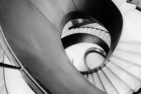 Photograph - Metal Spiral Staircase London by John Williams