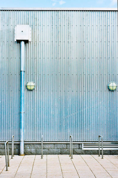 Drainage Photograph - Metal Wall by Tom Gowanlock