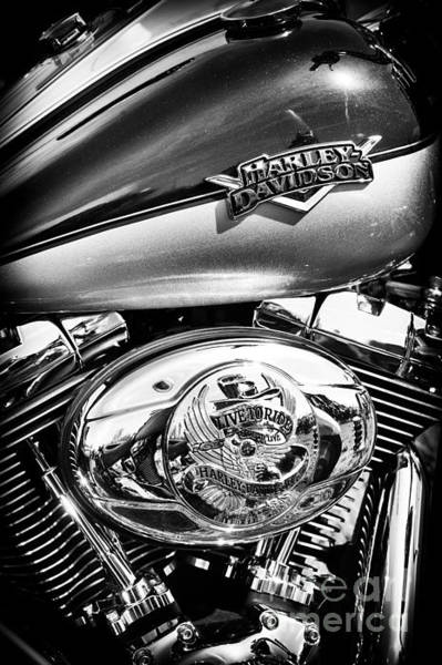 Chrome Engine Photograph - Metalflake Harley by Tim Gainey