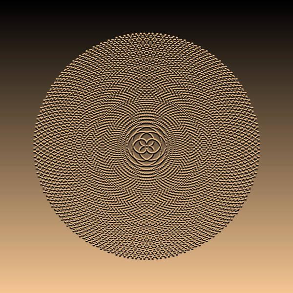 Digital Art - Metallic Beaded Mandala Ia by Robert Krawczyk